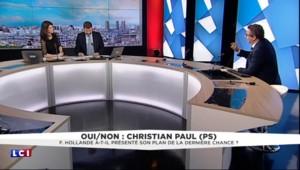 """Plan chômage annoncé par Hollande : """"Renoncer aux 35 heures, c'est une faute"""" pour Christian Paul"""