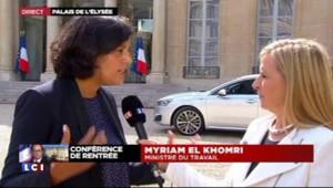 """Chômage : """"la réforme du code du Travail, une des priorités"""", affirme la ministre du Travail"""