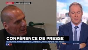 Fête de la Rose : L'ex ministre grec Yanis Varoufakis aux côtés d'Arnaud Montebourg