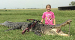 Alligator chassée par une fillette de 10 ans au Texas - Photo sur Facebook