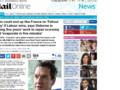 Article du Mail Online dans lequel George Osborne, le ministre des Finances britanniques, met en garde contre une victoire travailliste