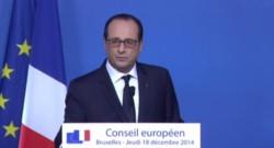 François Hollande, le 19/12/14