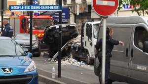 Le 20 heures du 30 mai 2014 : Un ouvrier tu�ors d'un rod�entre voitures en Seine-Saint-Denis - 192.92122861480715