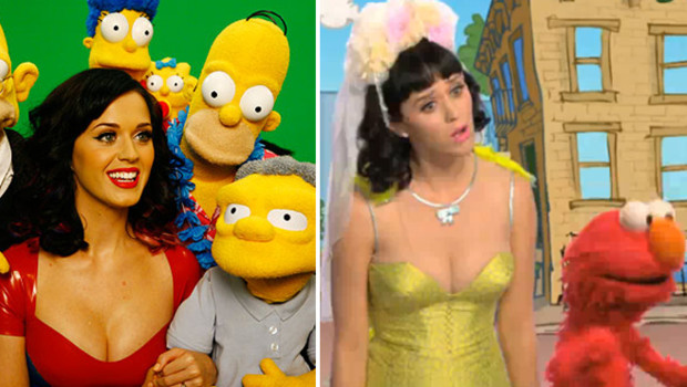 Katy Perry Les Simpson Sesame street