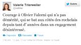 Trierweiler encourage Falorni, l'opposant de Royal aux législatives