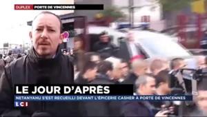 Benyamin Netanyahu s'est recueilli Porte de Vincennes