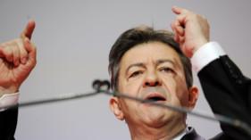 Jean-Luc Mélenchon, co-président du Parti de Gauche, lors du 3e congrès de son parti à Bordeaux le 24 mars 2013.