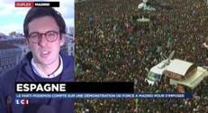 """Manifestation à Madrid : """"Beaucoup de monde a répondu à l'appel de Podemos"""""""
