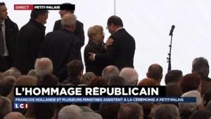 Petit-Palais : au chevet des familles, Hollande remercie le chauffeur du car