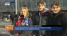 Des supporters Français sereins mais conscients de la force des joueurs Suisses