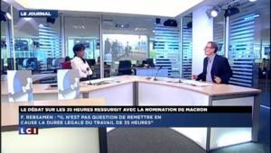 """""""Le gouvernement s'empresse de refermer la polémique"""" des 35h"""