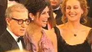 Woody Allen lors de la montée des marches Cannes 2002