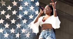 Azealia Banks en concert au festival Coachella en Californie en avril 2015