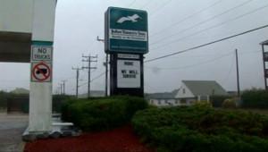 """Panneau sur la côte Est des Etats-Unis à l'arrivée de la tempête Irene : """"We will survive"""" (28 août 2011)"""
