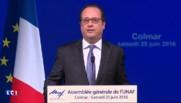 """Brexit : """"Les conséquences sont extrêmement grave"""", selon Hollande"""