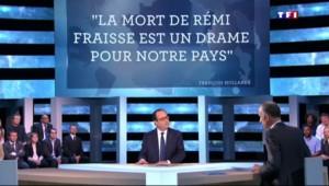 """Hollande sur TF1 : """"J'ai promis à la famille de Rémi Fraisse la vérité"""""""