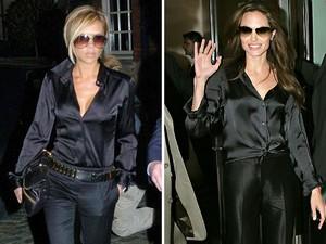 Victoria Beckham et Angelina Jolie : look de star