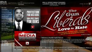 Le site du puissant lobby américain des armes, la NRA.