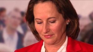 Ségolène Royal lors de son discours à l'issue du premier tour de la primaire PS.