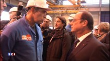 A Saint-Nazaire, un syndicaliste CGT refuse de serrer la main à François Hollande