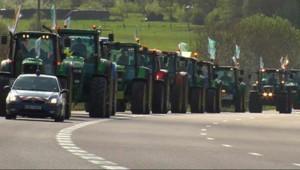 agriculteurs céréaliers Paris tracteurs