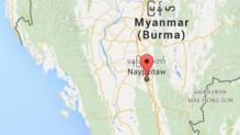Birmanie Naypyidaw carte