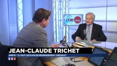 """Jean-Claude Trichet sur la Grèce : """"Il faut que les 18 soient sur la même ligne"""""""