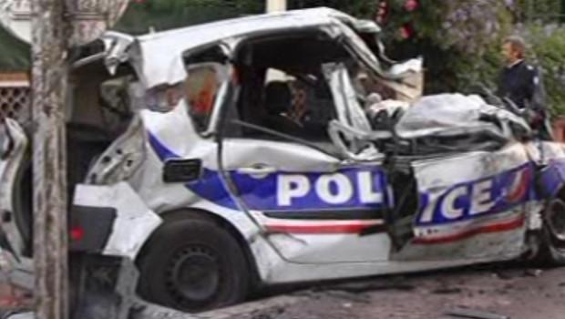 La voiture de police à Cannes, le 22 septembre 2012