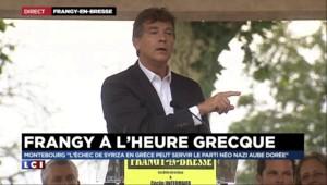 """Montebourg à Frangy : """"L'idéologie de la dette est mortifère"""""""