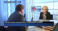 """Budget 2015 : """"Les frondeurs poursuivent leur contestation"""" réagit Fioraso"""