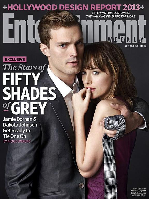 Jamie Dornan et Dakota Johnson en une d'Entertainment Weekly