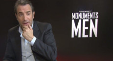 "Jean Dujardin en interview pour la sortie du film ""Monuments Men"""