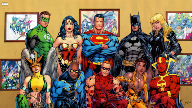 Les héros de la Justice League - La Ligue de Justice d'Amérique