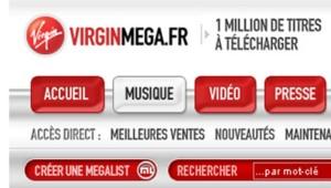 Un capture du site VirginMega.fr