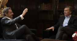 Nicolas Sarkozy et Mauricio Macri à Buenos Aires le 28 août 2015