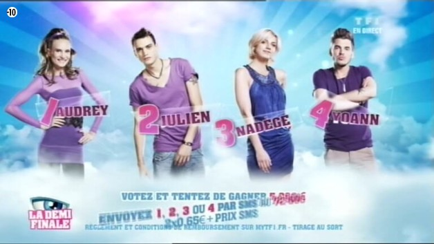 Qui d&#039;Audrey, Julien, Nadge ou Yoann remportera Secret Story 6 ? C&#039;est  vous de dcider !