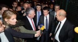 Manuel Valls en visite à l'usine Gad de Josselin, 19/12/14