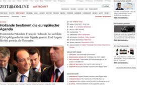 Capture d'écran d'un article de Die Zeit, jeudi 24/5/12, vers 15h