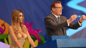 Fernanda Lima au tirage au sort de la coupe du monde de football 2014
