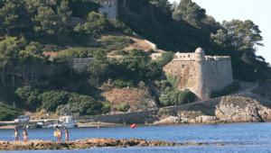 vue du Fort de Brégançon, résidence officielle du Président de la République