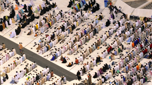 Archives : prière à La Mecque, 5 juin 2008