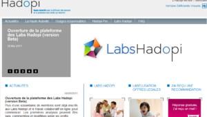 Capture d'écran du site d'Hadopi, mai 2011