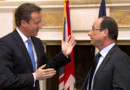 David Cameron (g.) et François Hollande, à Washington, le 18/5/12