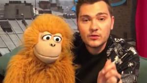 Jeff Panacloc et sa marionnette Jean-Marc.