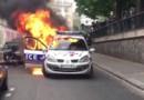 voiture police brûlée 2