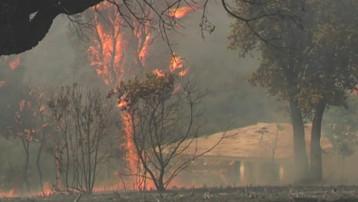 La progression des flammes en Corse-du-Sud (23 juillet 2009)