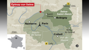Epinay-sur-Seine en Seine-Saint-Denis.
