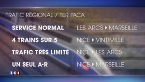 Intempéries dans les Alpes-Maritimes : trafic adapté à la SNCF pour ce lundi