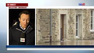 """Le 20 heures du 7 février 2014 : Inondations dans le Morbihan : vers une nouvelle """"crue du si�e"""" ? - 763.39424230957"""