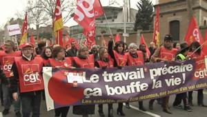 Accord sur l'emploi : la CGT et FO dans la rue